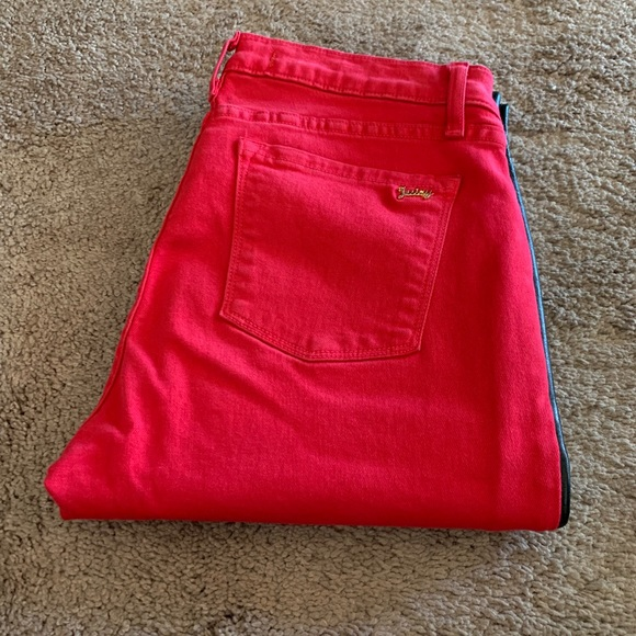 Juicy Couture Denim - Red with black strip juicy jeans